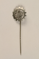 1995.124.16 front Nazi Party German Labor Front stickpin  Click to enlarge