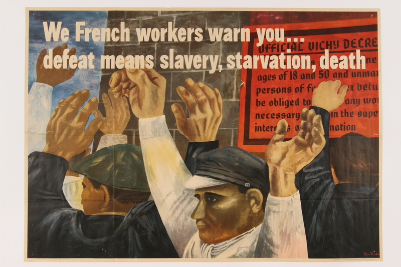 2014.504.2 front US propaganda poster reminding Americans of the urgent need to support the war
