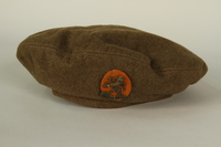 1991.119.1_c front Military blouse, trousers, and General Service Cap worn by a Dutch Jewish corporal in the Prinses Irene Brigade  Click to enlarge
