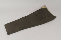 1991.119.1 b front Military blouse, trousers, and General Service Cap worn by a Dutch Jewish corporal in the Prinses Irene Brigade  Click to enlarge