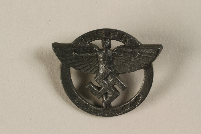 1994.124.19 front NSFK:  Nazi Flying Corps pin