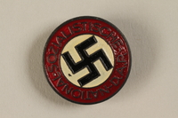 1994.124.2 front NSDAP membership badge  Click to enlarge