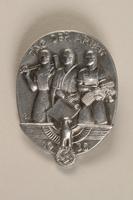 1994.124.4 front Tag der Arbeit 1935 badge  Click to enlarge