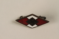 1994.124.6 front Hitler Youth membership badge  Click to enlarge
