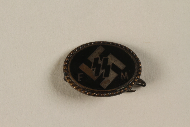 1994.124.7 front Nazi Party SS badge for Social Member