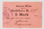 Moosch (Alsace), France, 5 mark currency exchange coupon nr. 377