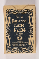 2013.495.6 b front Two decks of Patience cards with 3 boxes brought with a young German Jewish refugee  Click to enlarge