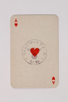2013.495.6 c front Two decks of Patience cards with 3 boxes brought with a young German Jewish refugee  Click to enlarge