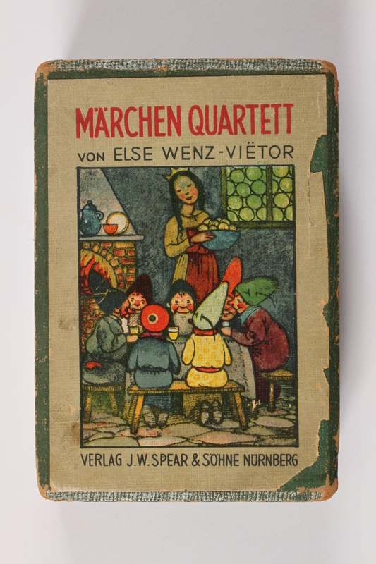 2013.495.7 a front Marchen Quartett deck of fairy tale cards with box brought with a German Jewish refugee