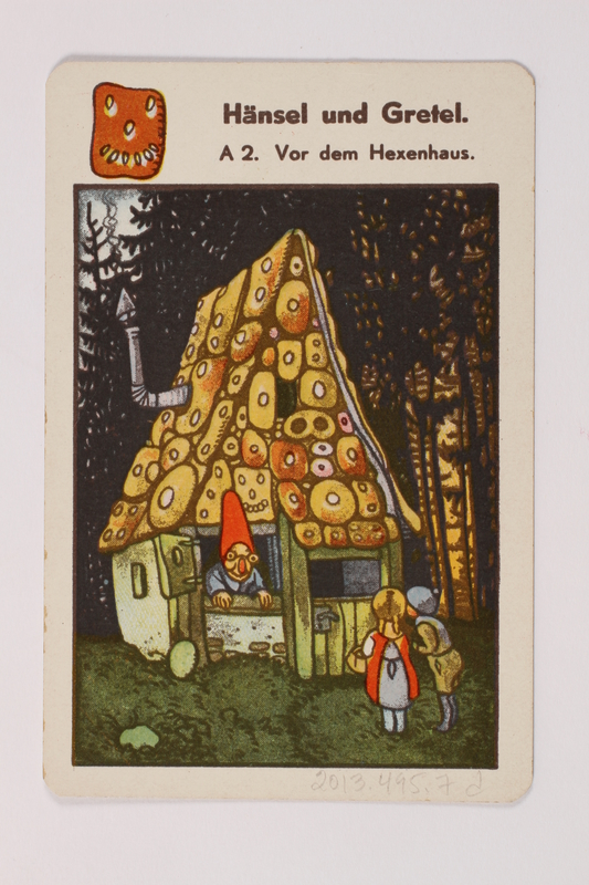 2013.495.7 d front Marchen Quartett deck of fairy tale cards with box brought with a German Jewish refugee