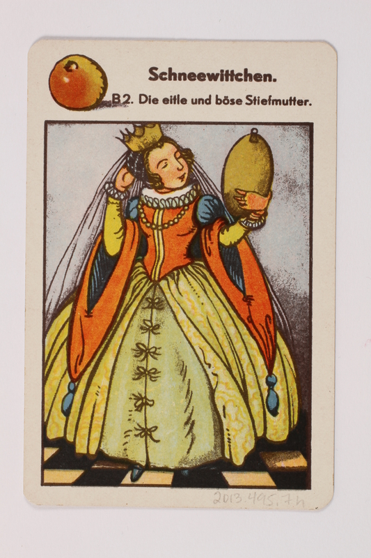 2013.495.7 h front Marchen Quartett deck of fairy tale cards with box brought with a German Jewish refugee