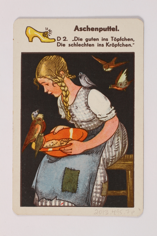 2013.495.7 p front Marchen Quartett deck of fairy tale cards with box brought with a German Jewish refugee