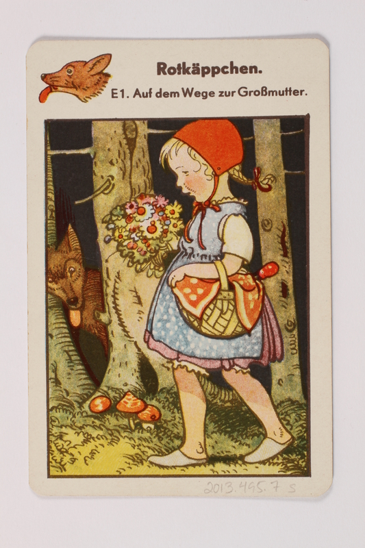 2013.495.7 s front Marchen Quartett deck of fairy tale cards with box brought with a German Jewish refugee