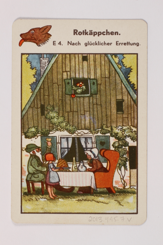 2013.495.7 v front Marchen Quartett deck of fairy tale cards with box brought with a German Jewish refugee