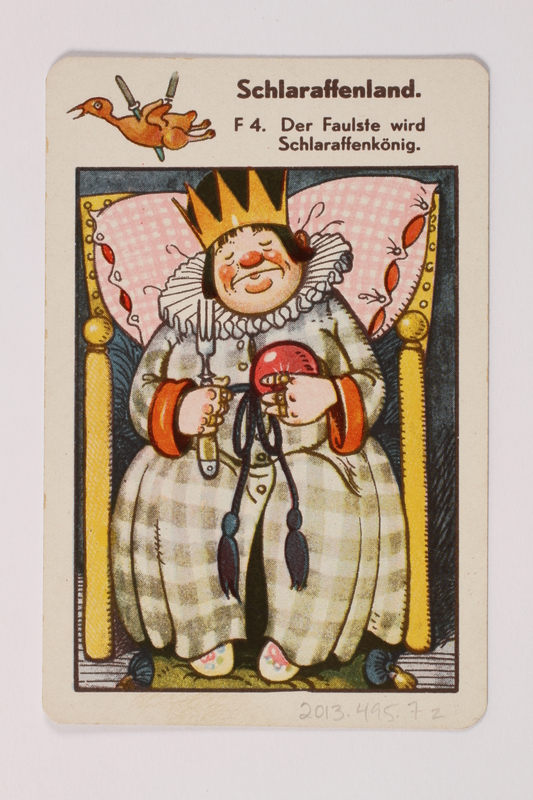 2013.495.7 z front Marchen Quartett deck of fairy tale cards with box brought with a German Jewish refugee