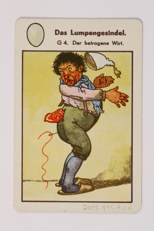 2013.495.7 ad front Marchen Quartett deck of fairy tale cards with box brought with a German Jewish refugee