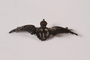 Royal Air Force sweetheart's wings pin acquired by a Czech Jewish Kindertransport refugee
