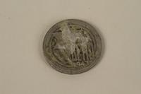 1995.128.171 back Łódź (Litzmannstadt) ghetto scrip, 5 mark coin  Click to enlarge