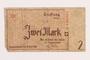 Łódź ghetto scrip, 2 mark note, acquired by a Polish Jewish survivor