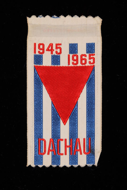 1995.128.256 front Commemorative ribbon for Dachau