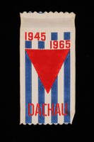 1995.128.256 front Commemorative ribbon for Dachau  Click to enlarge