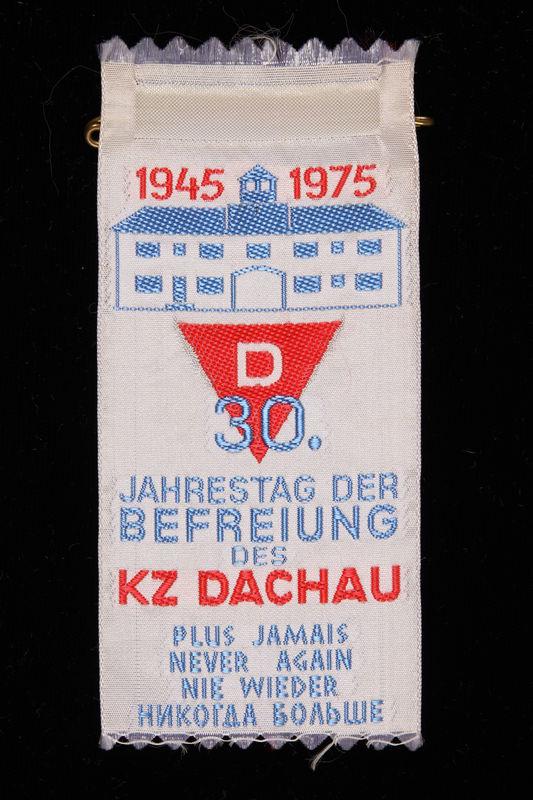 1995.128.257 front Commemorative ribbon for Dachau