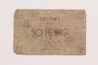 Łódź ghetto scrip, 50 pfennig note, acquired by a Polish Jewish survivor
