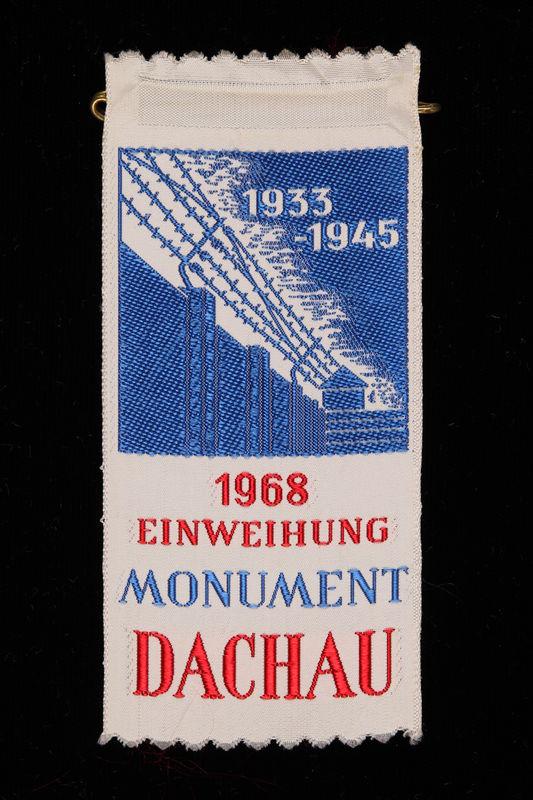 1995.128.260 front Commemorative ribbon for Dachau
