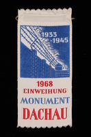1995.128.260 front Commemorative ribbon for Dachau  Click to enlarge
