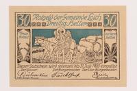 1989.21.2 front Gemeinde Loich, Austria, notgeld  Click to enlarge