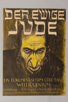 1989.231.1 front Poster for an anti-semitic film  Click to enlarge