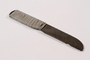 Handmade metal knife used by a concentration camp inmate saved by getting on Schindler's list
