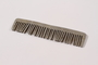 Handmade metal comb used by a concentration camp inmate saved by getting on Schindler's list