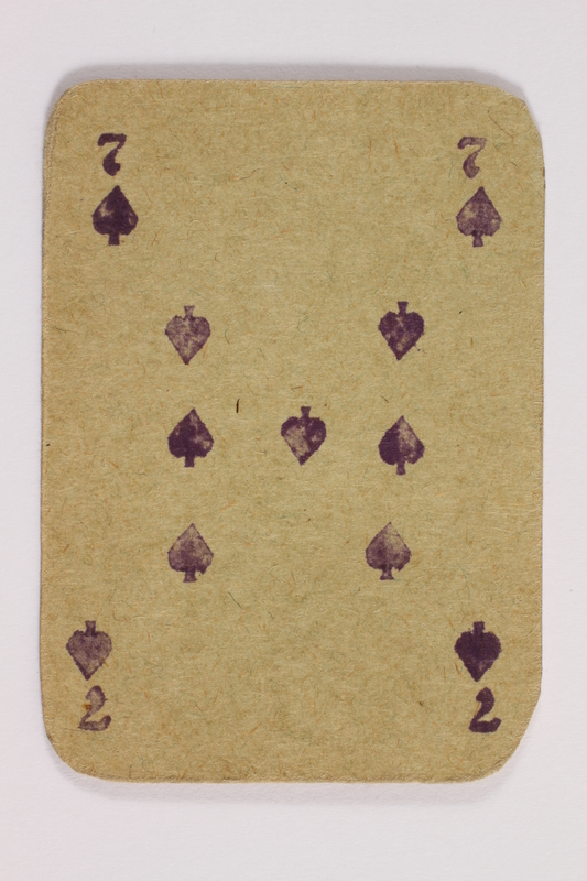 2013.379.10 a front Two decks of skat cards used by a concentration camp inmate saved by Schindler's list