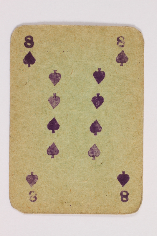 2013.379.10 b front Two decks of skat cards used by a concentration camp inmate saved by Schindler's list