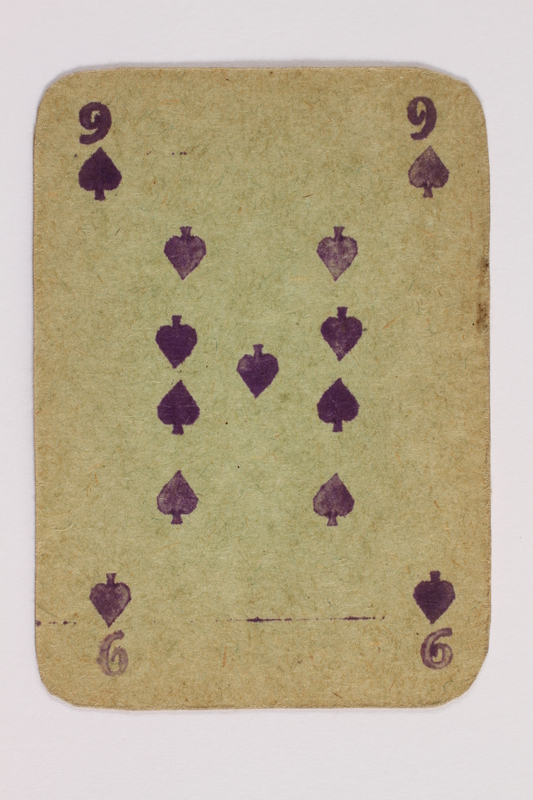 2013.379.10 c front Two decks of skat cards used by a concentration camp inmate saved by Schindler's list