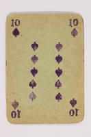 2013.379.10 d front Two decks of skat cards used by a concentration camp inmate saved by Schindler's list  Click to enlarge