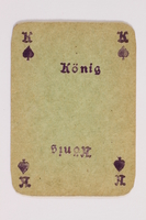 2013.379.10 h front Two decks of skat cards used by a concentration camp inmate saved by Schindler's list  Click to enlarge