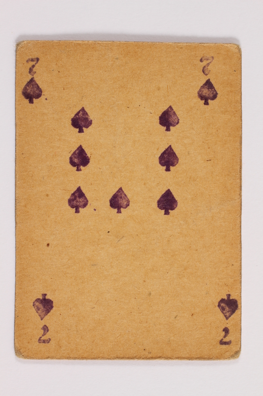 2013.379.10 i front Two decks of skat cards used by a concentration camp inmate saved by Schindler's list