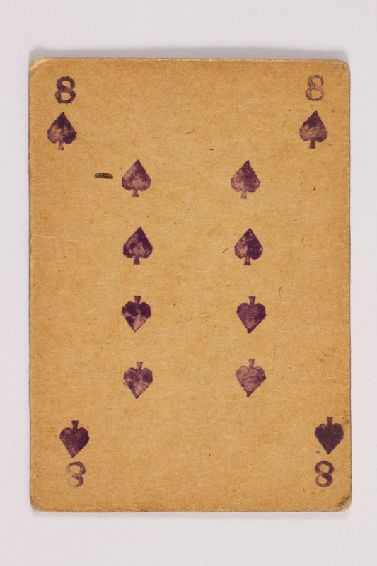 2013.379.10 j front Two decks of skat cards used by a concentration camp inmate saved by Schindler's list