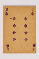 2013.379.10 j front Two decks of skat cards used by a concentration camp inmate saved by Schindler's list  Click to enlarge