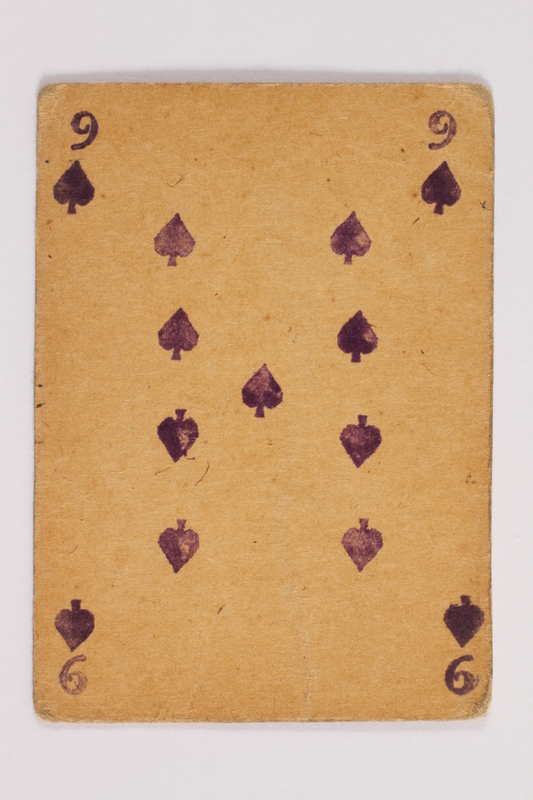 2013.379.10 k front Two decks of skat cards used by a concentration camp inmate saved by Schindler's list
