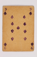 2013.379.10 k front Two decks of skat cards used by a concentration camp inmate saved by Schindler's list  Click to enlarge