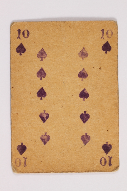2013.379.10 l front Two decks of skat cards used by a concentration camp inmate saved by Schindler's list