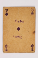 2013.379.10 m front Two decks of skat cards used by a concentration camp inmate saved by Schindler's list  Click to enlarge