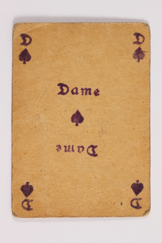 2013.379.10 n front Two decks of skat cards used by a concentration camp inmate saved by Schindler's list