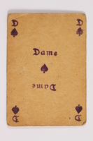 2013.379.10 n front Two decks of skat cards used by a concentration camp inmate saved by Schindler's list  Click to enlarge