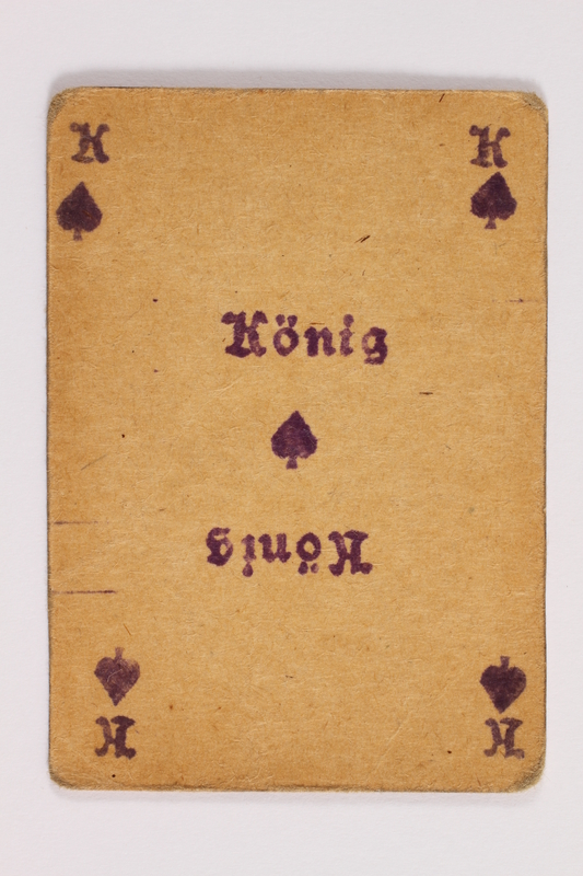 2013.379.10 o front Two decks of skat cards used by a concentration camp inmate saved by Schindler's list