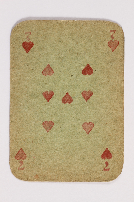 2013.379.10 q front Two decks of skat cards used by a concentration camp inmate saved by Schindler's list