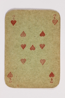 2013.379.10 q front Two decks of skat cards used by a concentration camp inmate saved by Schindler's list  Click to enlarge